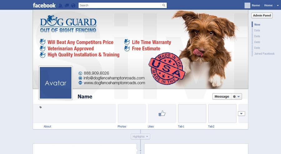 Kilpailutyö #25 kilpailussa Design a Facebook Cover Graphic for Dog Business
