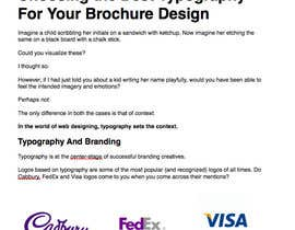 "#17 untuk Write an article about ""Choosing the Best Typography For Your Brochure Design"" oleh DHSharma"