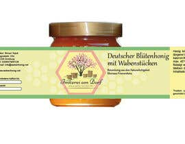 #20 untuk Design a bottle label (honey jar label) - Design eines flaschenetikett (honigglas etikett) oleh Anjapangerl