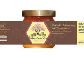 #21 untuk Design a bottle label (honey jar label) - Design eines flaschenetikett (honigglas etikett) oleh Anjapangerl