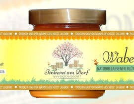#10 untuk Design a bottle label (honey jar label) - Design eines flaschenetikett (honigglas etikett) oleh Serghii