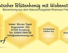 #18 untuk Design a bottle label (honey jar label) - Design eines flaschenetikett (honigglas etikett) oleh clamos