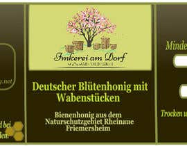 #12 for Design a bottle label (honey jar label) - Design eines flaschenetikett (honigglas etikett) af danijelaradic
