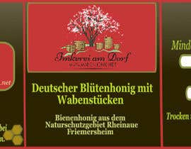 #13 for Design a bottle label (honey jar label) - Design eines flaschenetikett (honigglas etikett) af danijelaradic