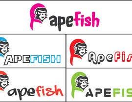 Nro 10 kilpailuun Apefish logo käyttäjältä orangethief