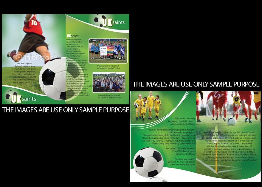 Contest Entry #24 for Graphic Design for uk saints brochure