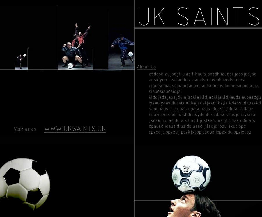 Contest Entry #20 for Graphic Design for uk saints brochure