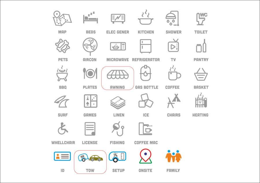 Kilpailutyö #24 kilpailussa Design some Icons for my website