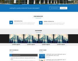 #1 untuk Design a Website Mockup for small building company oleh mohamedsalim2015