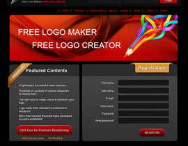 #32 för Sign Up page for Online Logo Maker av badhon86