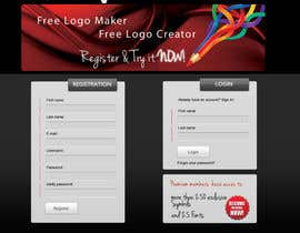 #21 untuk Sign Up page for Online Logo Maker oleh jasminkamitrovic