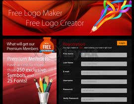 #36 pentru Sign Up page for Online Logo Maker de către superlayout