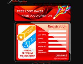 #40 para Sign Up page for Online Logo Maker de jagadeeshrk