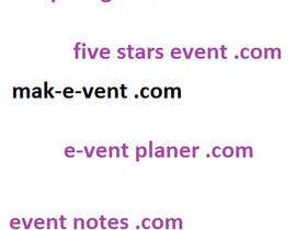 #189 for Domain Name for Event Site af Blagica