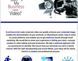 #13 for Design a Flyer for production of Corporate Video af thoughtcafe