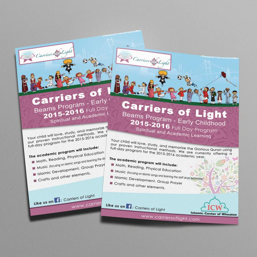Bài tham dự cuộc thi #9 cho Design a Flyer for Preschool Program