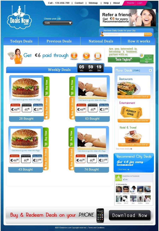 Kilpailutyö #                                        27                                      kilpailussa                                         Website Design for weeklydeals