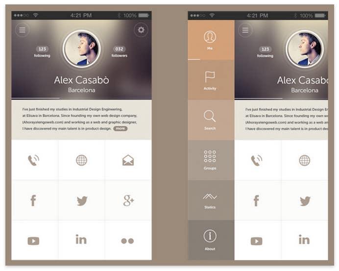 Inscrição nº 10 do Concurso para I need a designer for our mobile app UI
