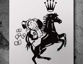 #2 untuk Illustrate The Monopoly Man Riding The Ferrari Horse oleh imagencreativajp