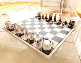 #47 para Photo Realistic 3D Rendering of a minimalistic chess board on top of a surface. por giarilham