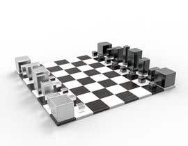 #26 para Photo Realistic 3D Rendering of a minimalistic chess board on top of a surface. por GA3D