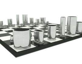#3 para Photo Realistic 3D Rendering of a minimalistic chess board on top of a surface. por bookauri