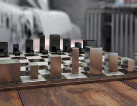 #41 untuk Photo Realistic 3D Rendering of a minimalistic chess board on top of a surface. oleh kangian