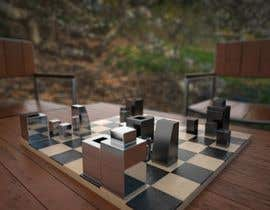 #39 untuk Photo Realistic 3D Rendering of a minimalistic chess board on top of a surface. oleh theodornacev