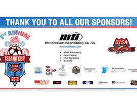 #15 for Design a Banner for Soccer Tournament Sponsors af Vifranco89
