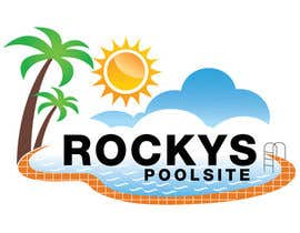 #38 for Design a Logo for www.rockyspoolsite.com.au af logocreador