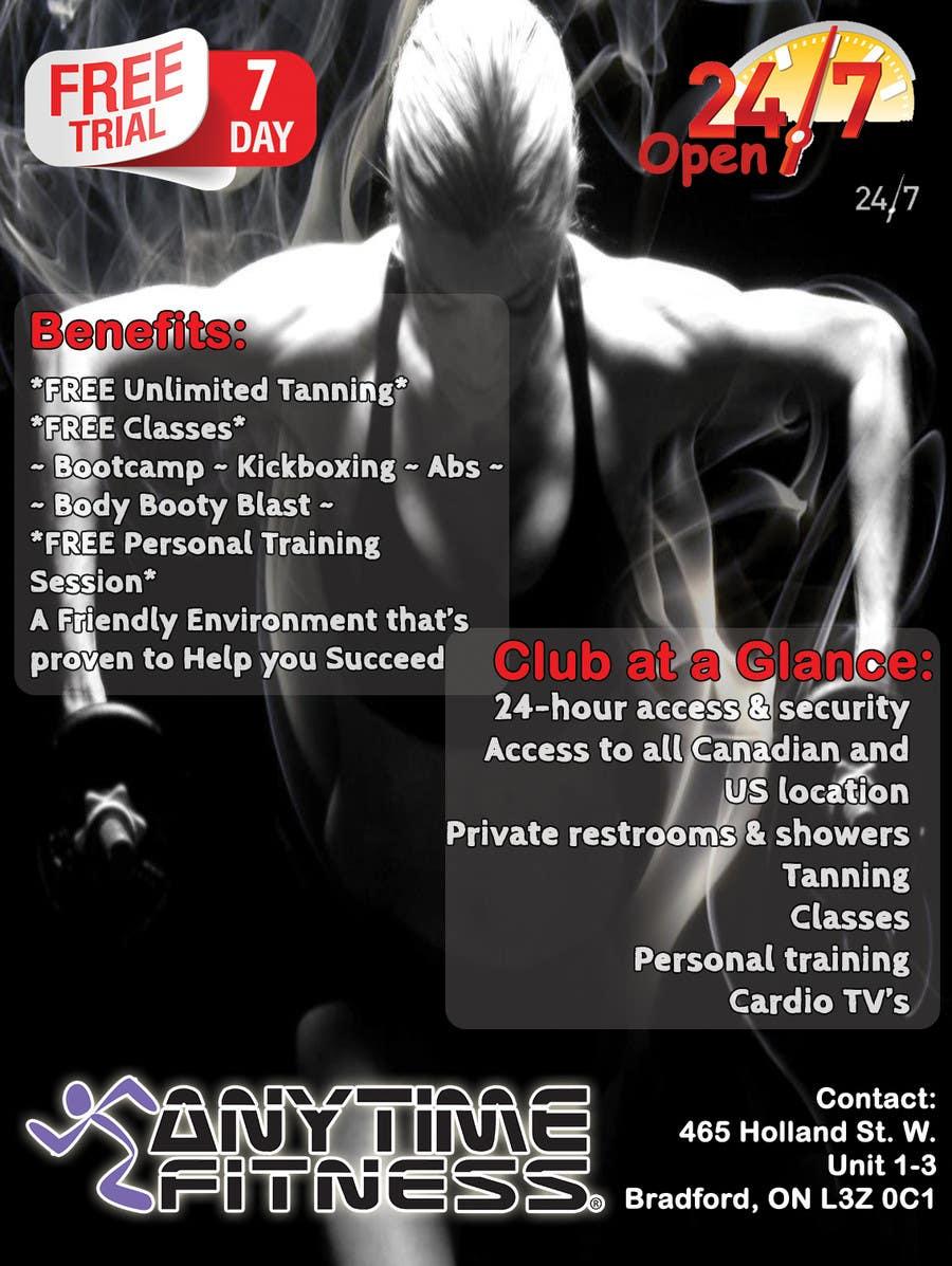 Kilpailutyö #5 kilpailussa ReDesign ad for Gym