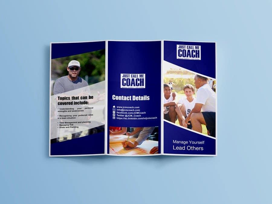 Kilpailutyö #11 kilpailussa Design a Brochure for Just Call me Coach