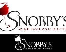 Nro 54 kilpailuun Design a Logo for Snobby's Wine Bar and Bistro käyttäjältä cbarberiu