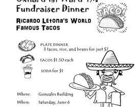 #5 for Design a Flyer for a taco fundraiser dinner by nerielm25