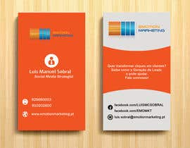 Nro 37 kilpailuun Design a vertical (two sides)Business Card + horizontal Business Card (two sides) for Emotion Marketing käyttäjältä sanratul001