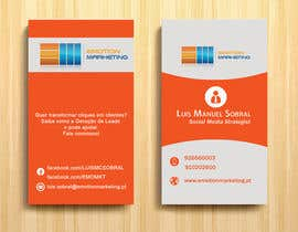#40 untuk Design a vertical (two sides)Business Card + horizontal Business Card (two sides) for Emotion Marketing oleh sanratul001