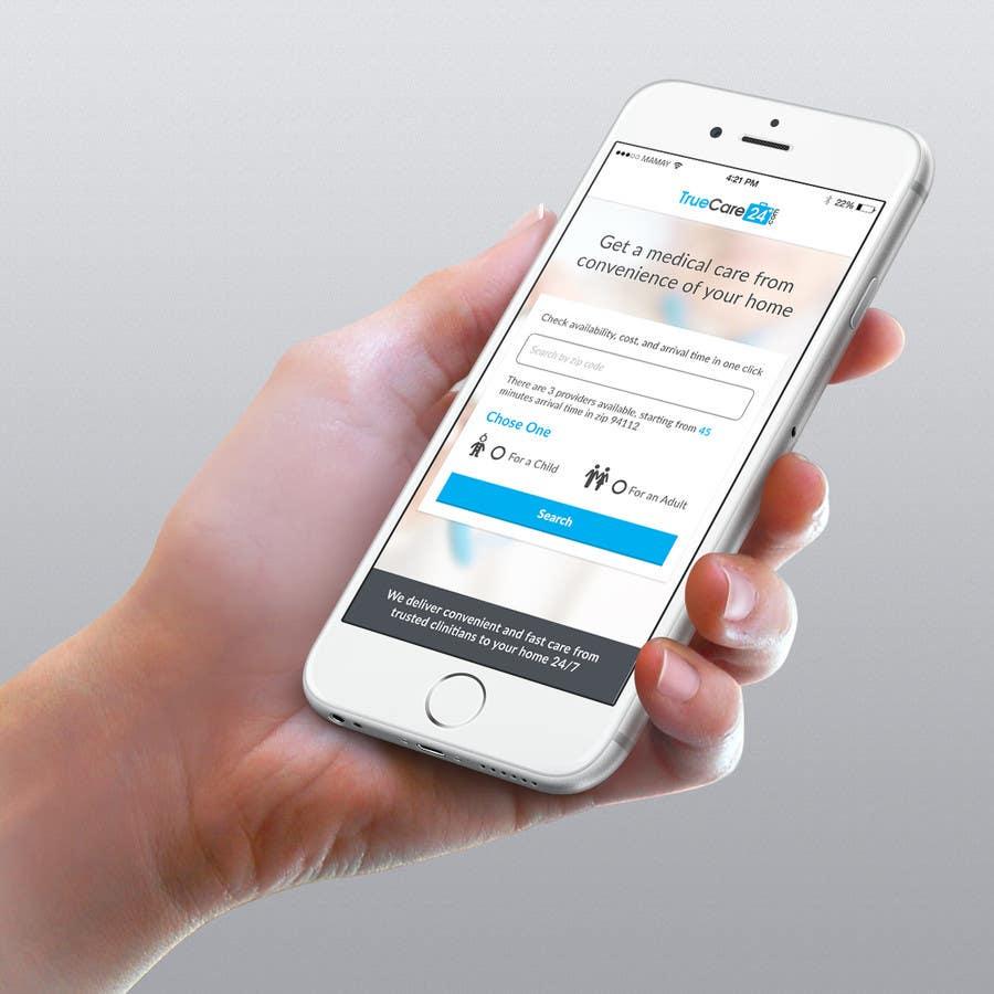 Bài tham dự cuộc thi #92 cho Design an App Mockup (The landing page only)