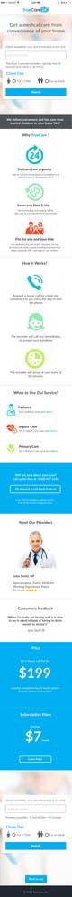 Ảnh thumbnail bài tham dự cuộc thi #92 cho Design an App Mockup (The landing page only)