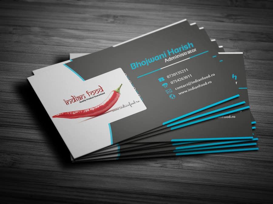 Kilpailutyö #40 kilpailussa Design some Business Cards for www.indianfood.ro