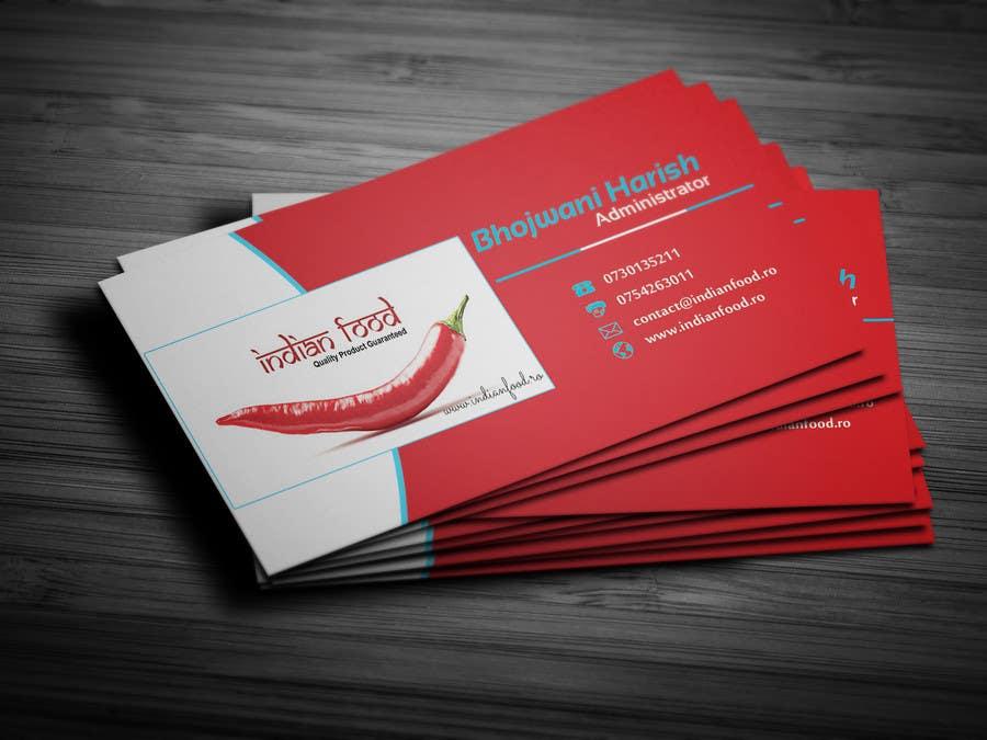 Kilpailutyö #49 kilpailussa Design some Business Cards for www.indianfood.ro