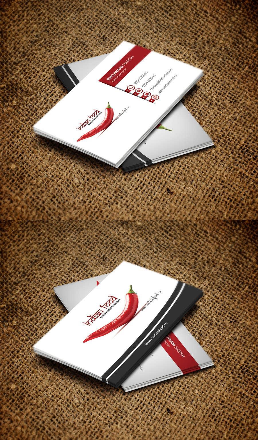 Kilpailutyö #42 kilpailussa Design some Business Cards for www.indianfood.ro