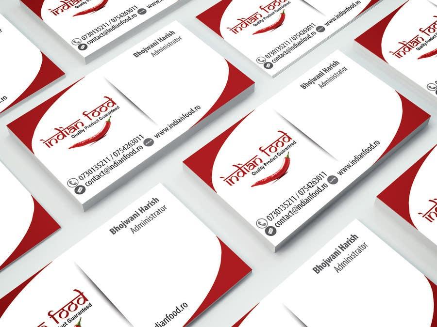 Kilpailutyö #9 kilpailussa Design some Business Cards for www.indianfood.ro