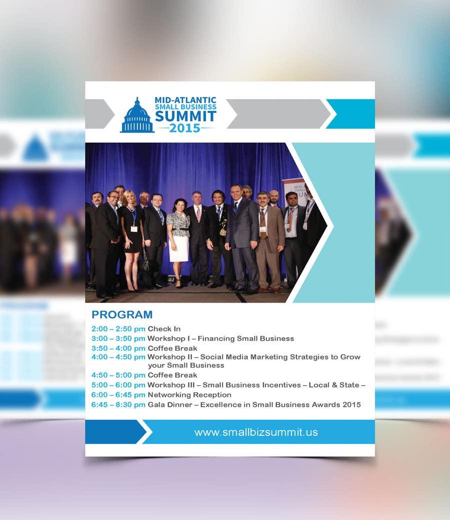 Kilpailutyö #20 kilpailussa Design a Flyer for Business Summit Event