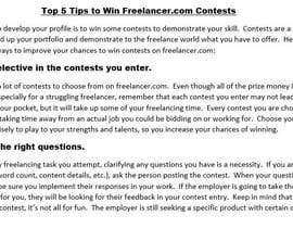 #10 untuk Share the top 5 tips related to being a freelancer oleh bbunny17