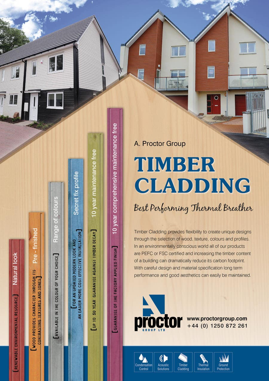 #37 for Design an Advertisement for Timber Cladding by jj0357