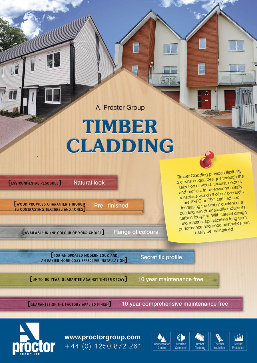 #38 for Design an Advertisement for Timber Cladding by jj0357
