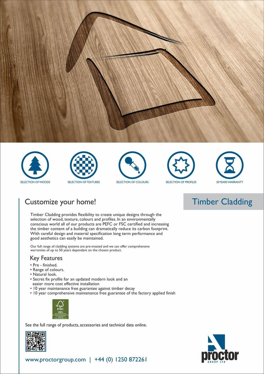#4 for Design an Advertisement for Timber Cladding by F5DesignStudio