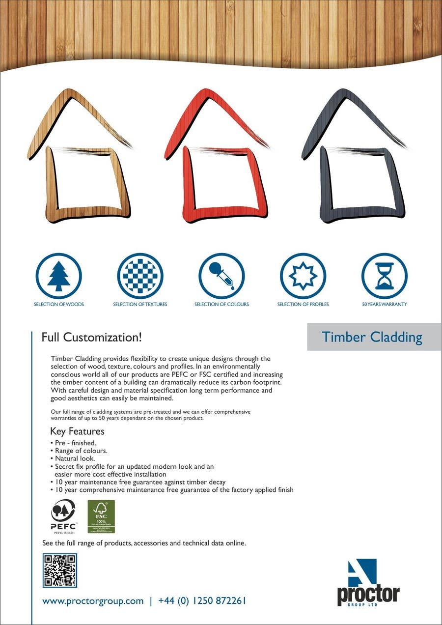 #27 for Design an Advertisement for Timber Cladding by F5DesignStudio