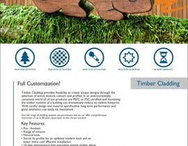 #33 untuk Design an Advertisement for Timber Cladding oleh F5DesignStudio