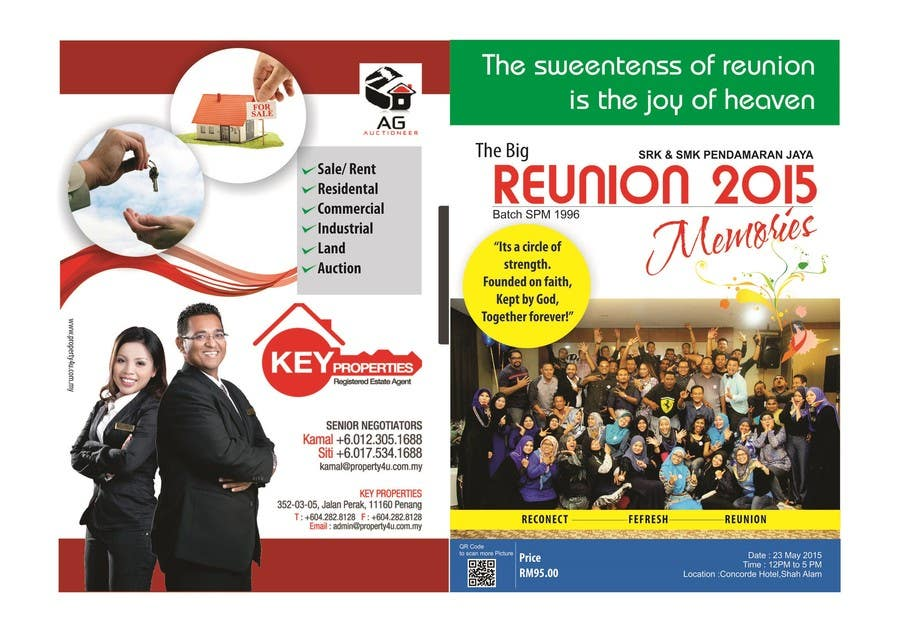 Contest Entry #7 for Design a ReUnion Booklet